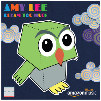 Amazon Music Amy Lee Dream Too Much Owl Paper Foldables papercraft paper toy