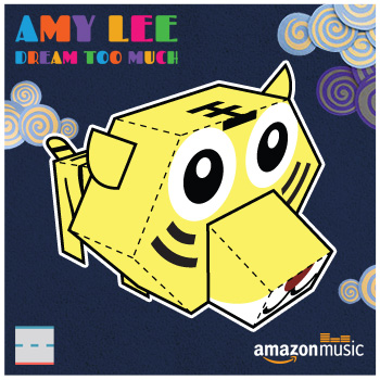 Amazon Music Amy Lee Dream Too Much Tiger Paper Foldables papercraft paper toy