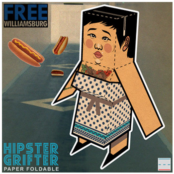 FREEwilliamsburg Hipster Hipster Grifter Paper Foldables paper toy