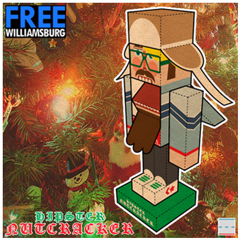 FREEwilliamsburg Hipster Nutcracker Paper Foldables paper toy