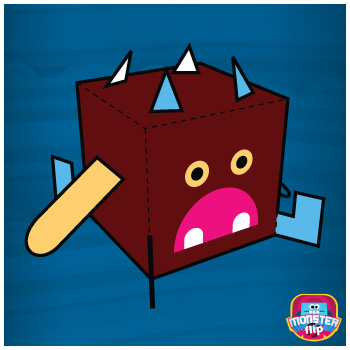 PikPok Monster Flip Paper Foldables paper toy