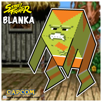 Capcom Street Fighter Blanka Paper Foldables paper toy