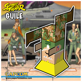 Capcom Street Fighter Guile Paper Foldables paper toy