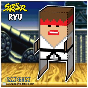 Capcom Street Fighter Ryu Paper Foldables paper toy