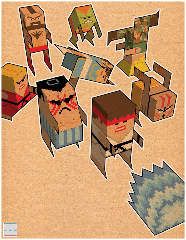 Udon Street Fighter Tribute art